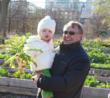 Ray's great granddaughter visits the garden.
